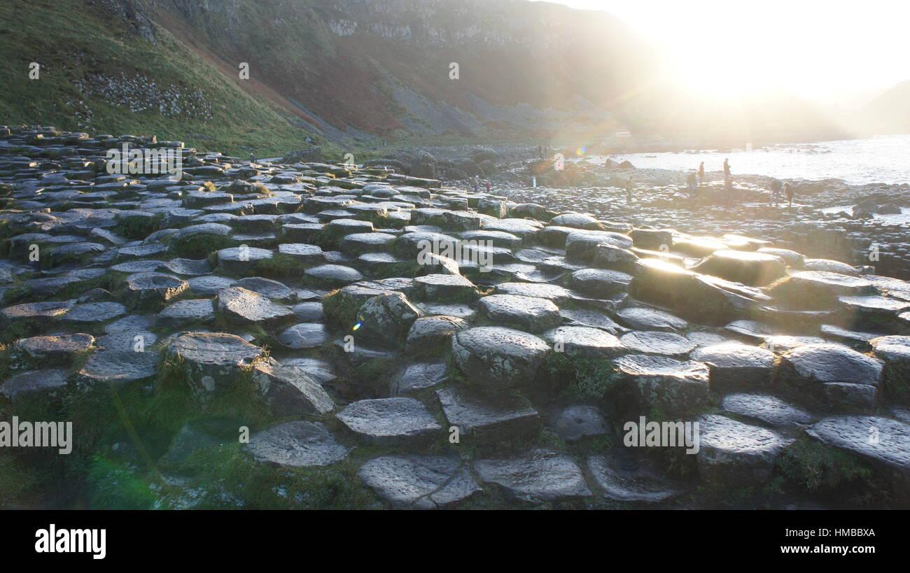 Giant's Causeway Immagini Stock