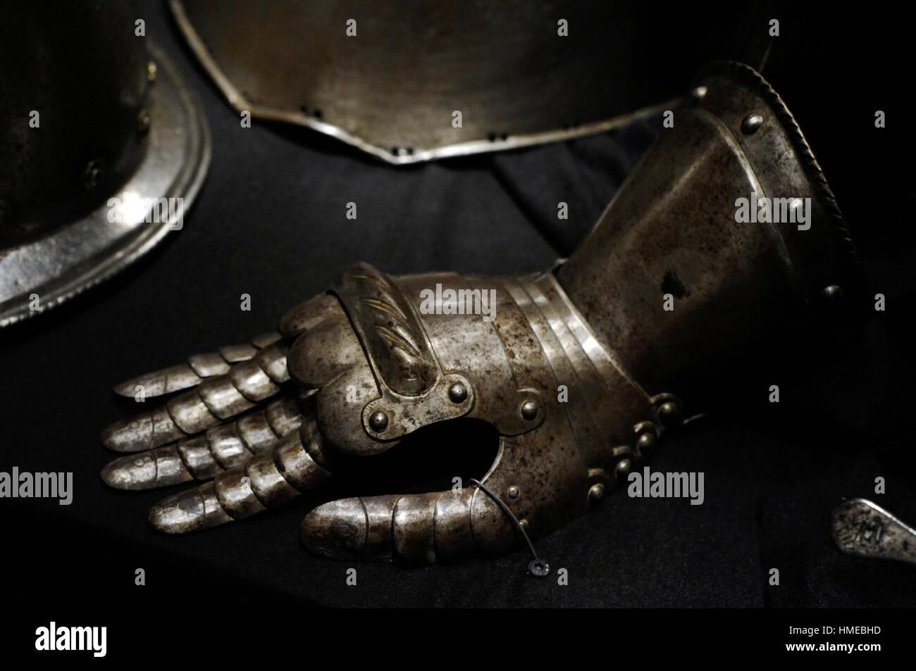 Armor. Sfida. Museo della città. Il castello di Malmo. La Svezia. Immagini Stock