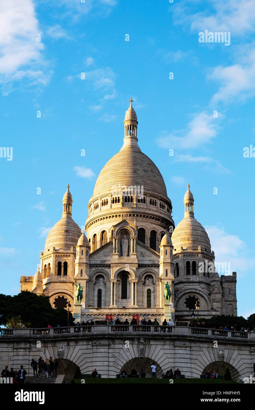 Basilica del Sacré Coeur e Montmartre, Parigi, Francia Immagini Stock