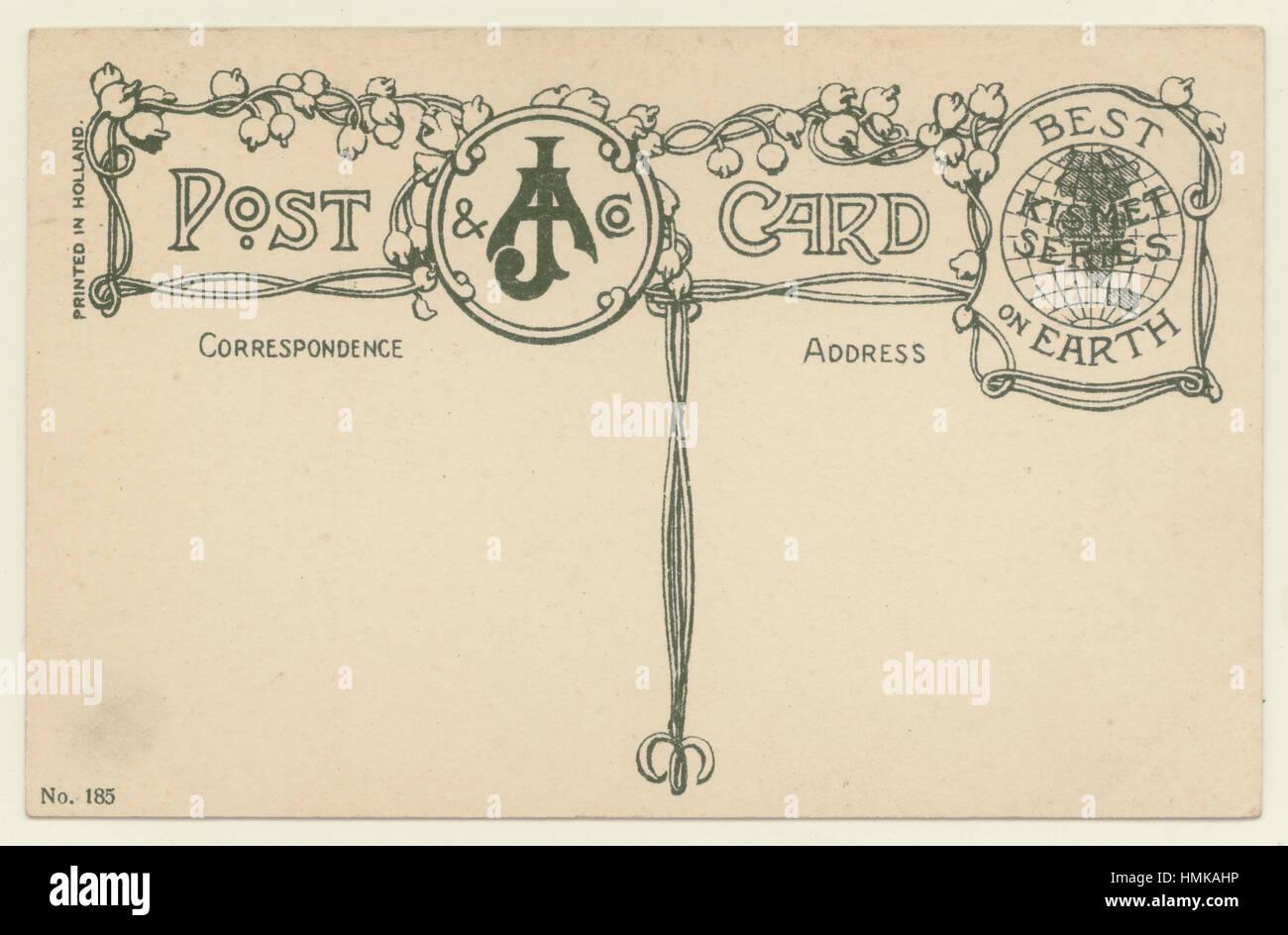 Retromarcia dei primi del novecento cartolina British realizzato cartolina, ornato progettato, U.K. Immagini Stock