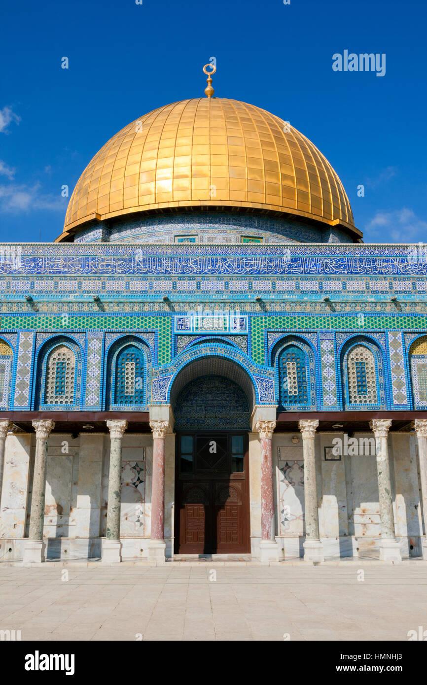 Ingresso della Cupola della Roccia sulla Spianata delle Moschee di Gerusalemme, Israele Immagini Stock