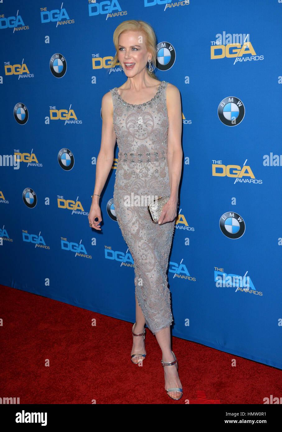 LOS ANGELES, CA. 4 febbraio 2017: attrice Nicole Kidman alla sessantanovesima annuale di Directors Guild of America Immagini Stock