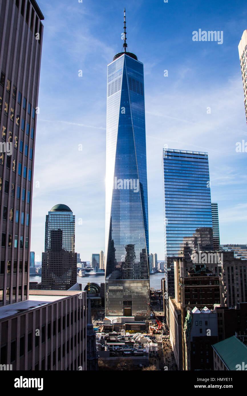 One World Trade Center di New York City, NY Immagini Stock