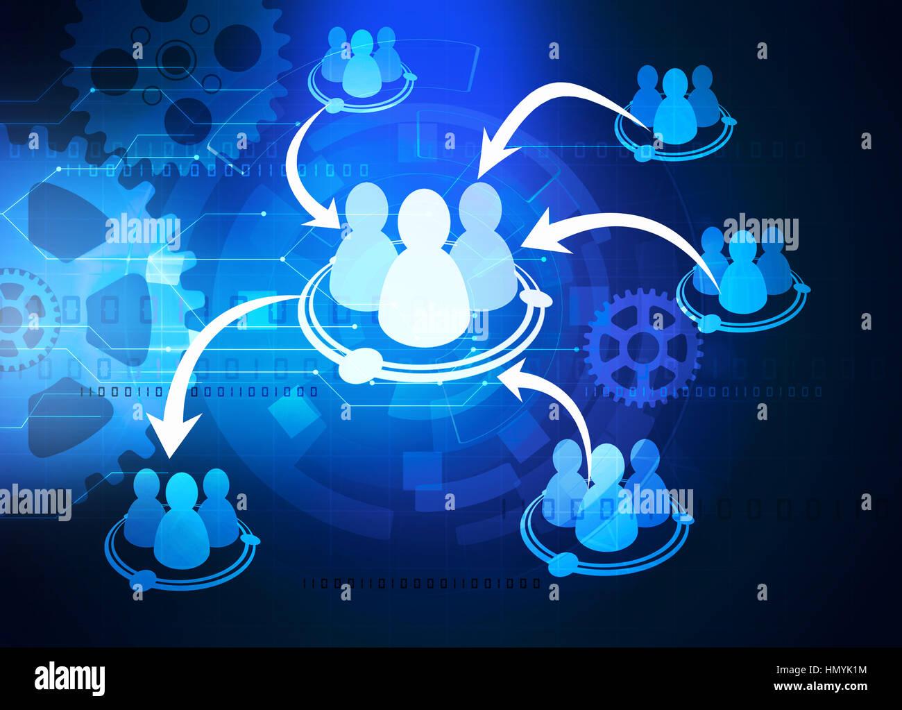 Team di schema di cooperazione Immagini Stock