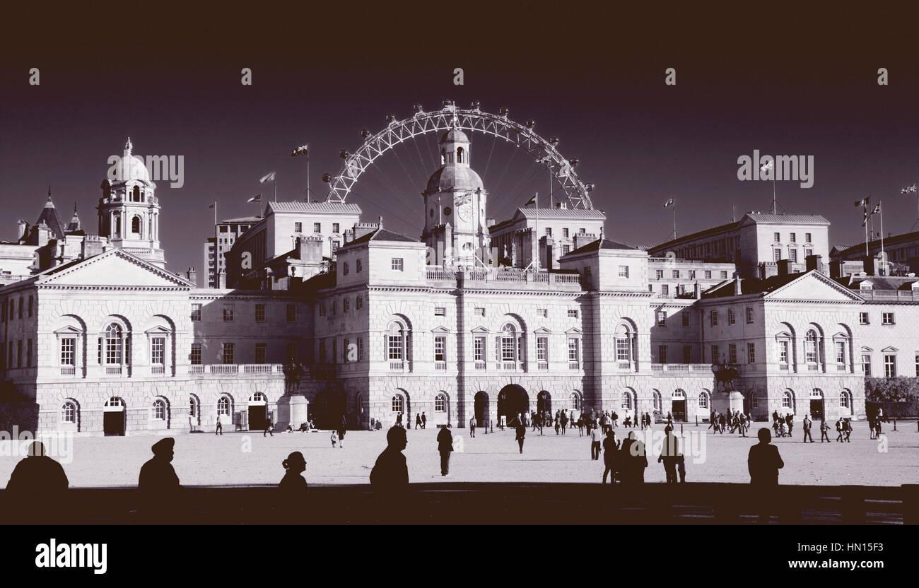 La Sfilata delle Guardie a Cavallo, London, England, Regno Unito Immagini Stock