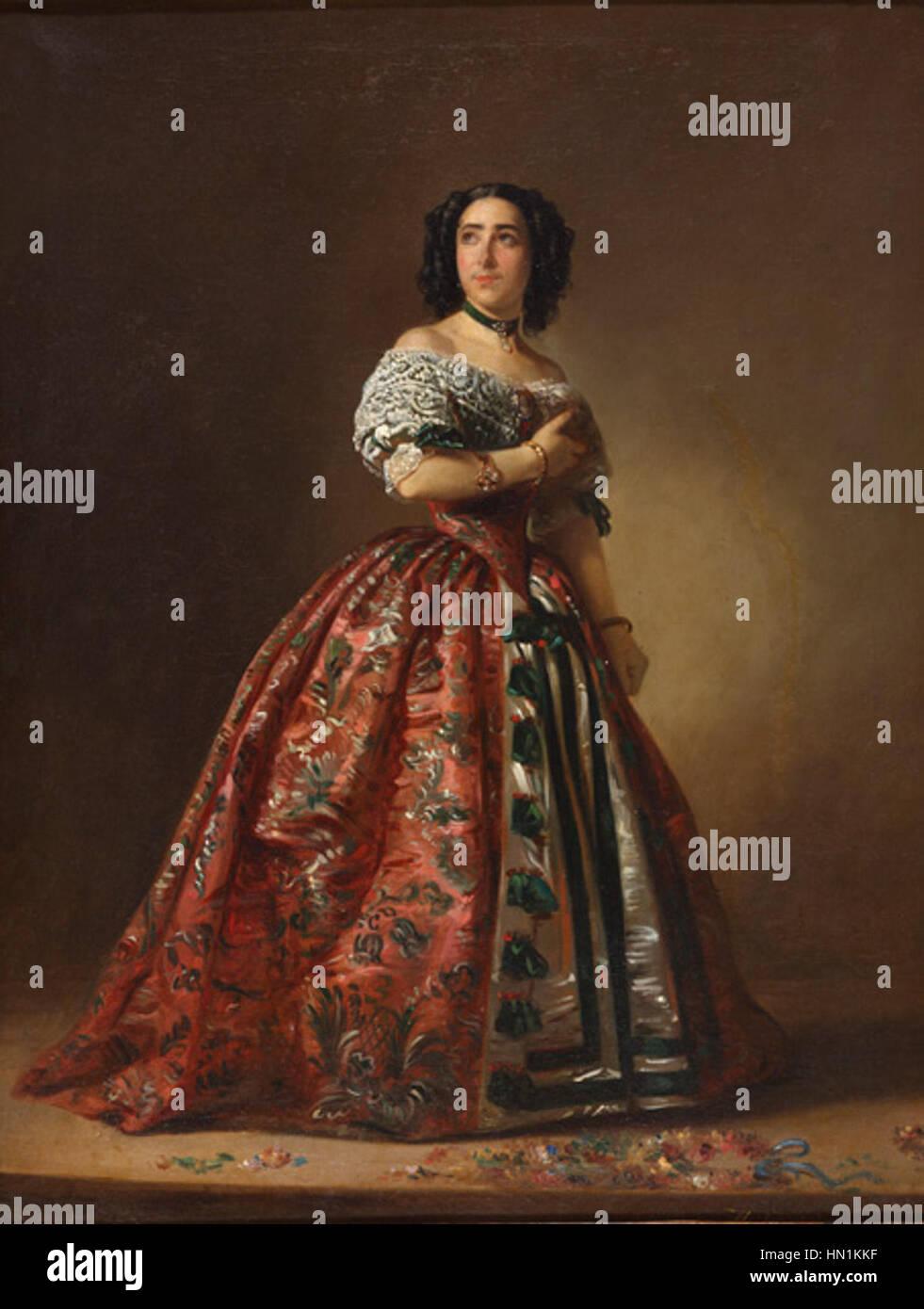 Museo del Romanticismo - CE0068 - Teodora Lamadrid en Adriana Lecouvreur Immagini Stock