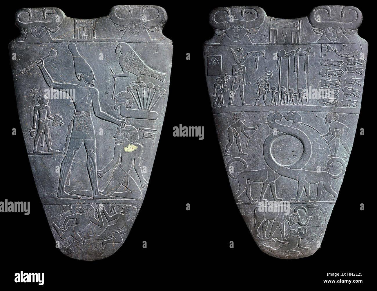 Paletta di Narmer Foto Stock