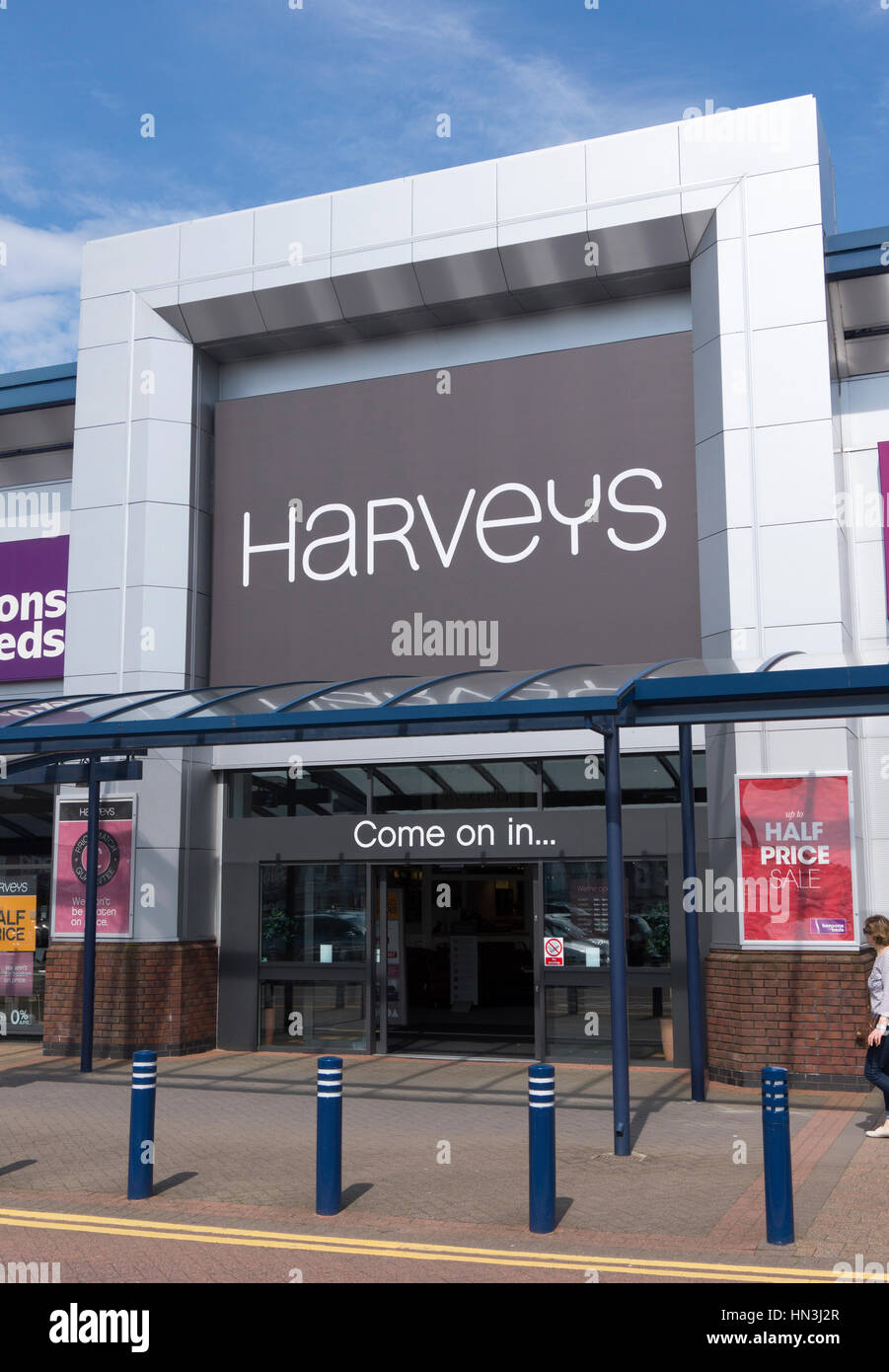 Harveys Furniture Store in Horwich, Bolton. Immagini Stock