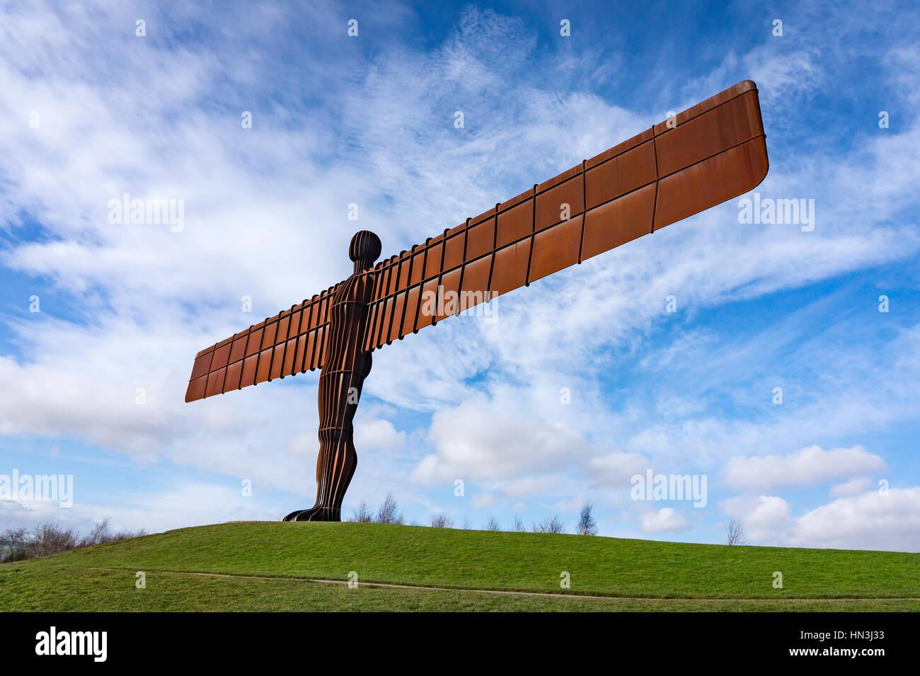 Anthony Gormleys Angelo del nord di una scultura in Gateshead Foto Stock