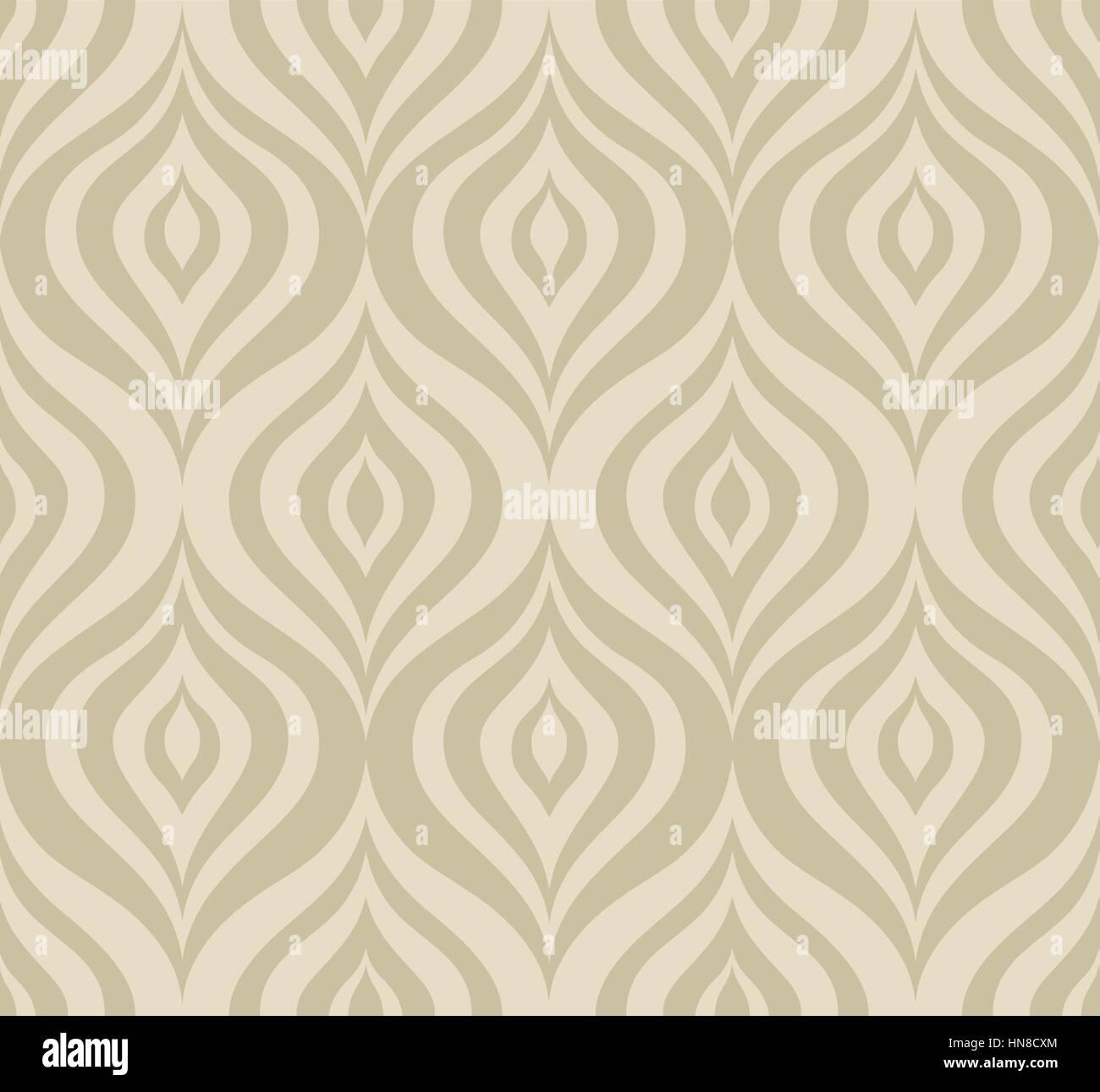 Vettore abstact seamless pattern orienal floreali linea geometrica texture astratta elegante sfondo ornamentale Immagini Stock