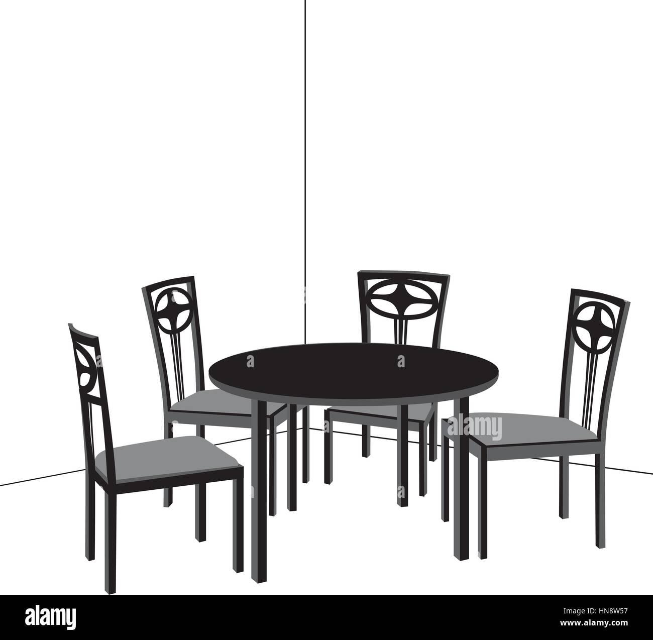 Mobili per interni. tavolo e sedie. soggiorno design ...