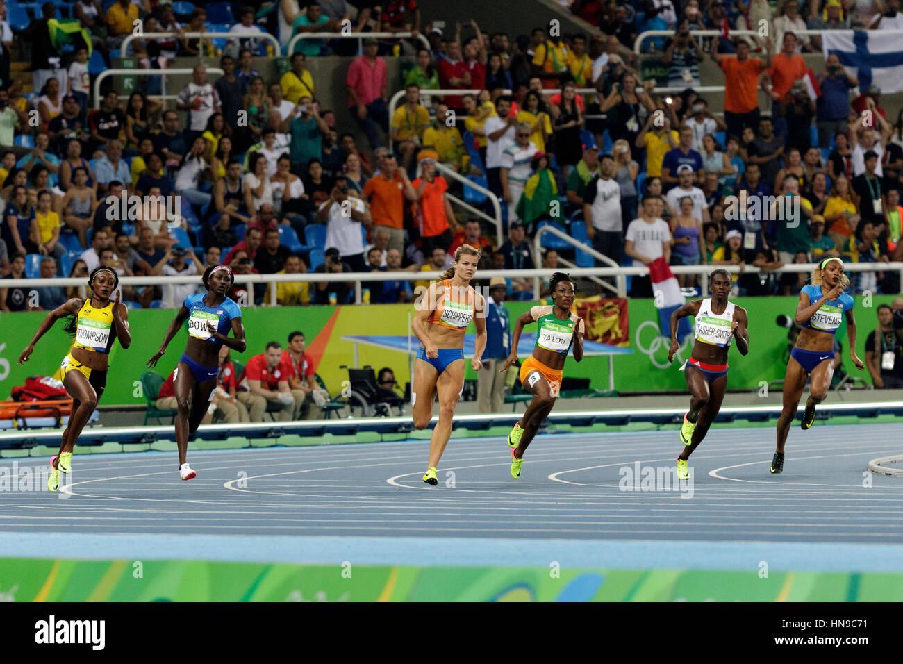 Rio de Janeiro, Brasile. Il 17 agosto 2016. Atletica, Donne 200m finali all'2016 Olimpiadi estive. ©Paul Immagini Stock