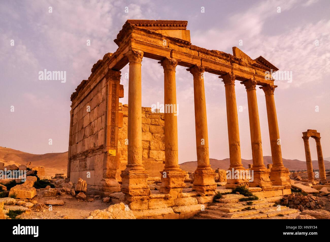 Antico tempio di Palmyra, Siria Immagini Stock