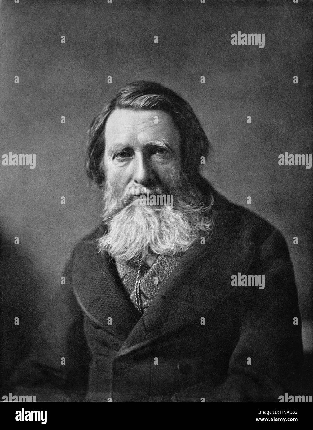 JOHN RUSKIN CRITICO D'ARTE & WRITER (1880) Immagini Stock
