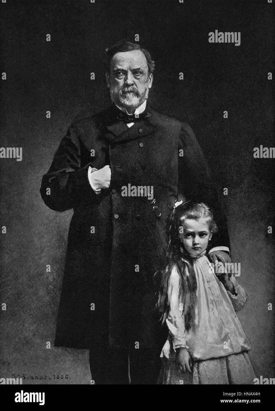 LOUIS PASTEUR chimico e microbiologo (1880) Immagini Stock
