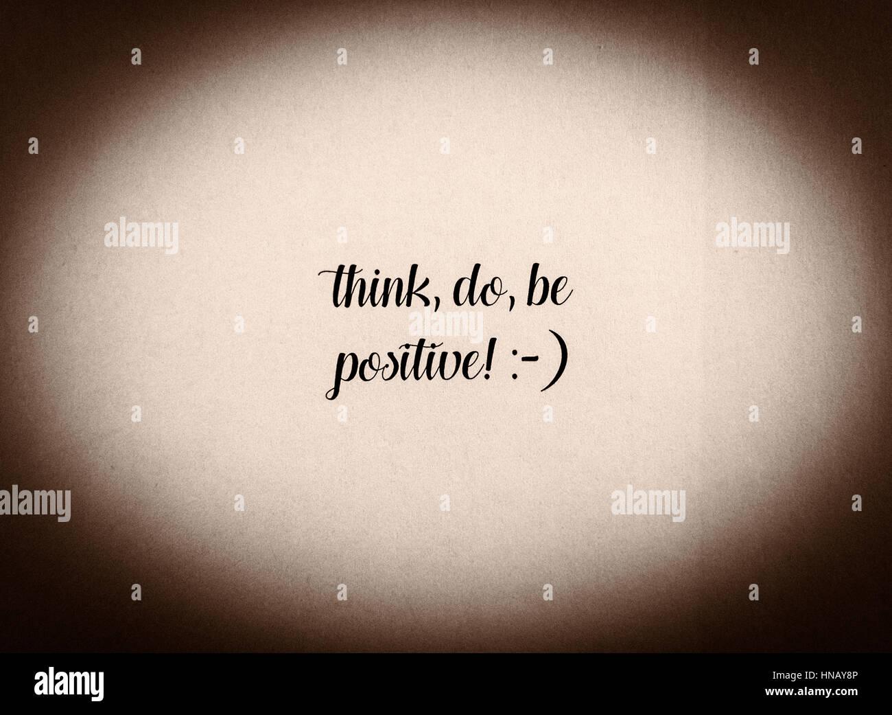 Essere Positivo Una Frase Scritta In Bianco E Nero Effetto