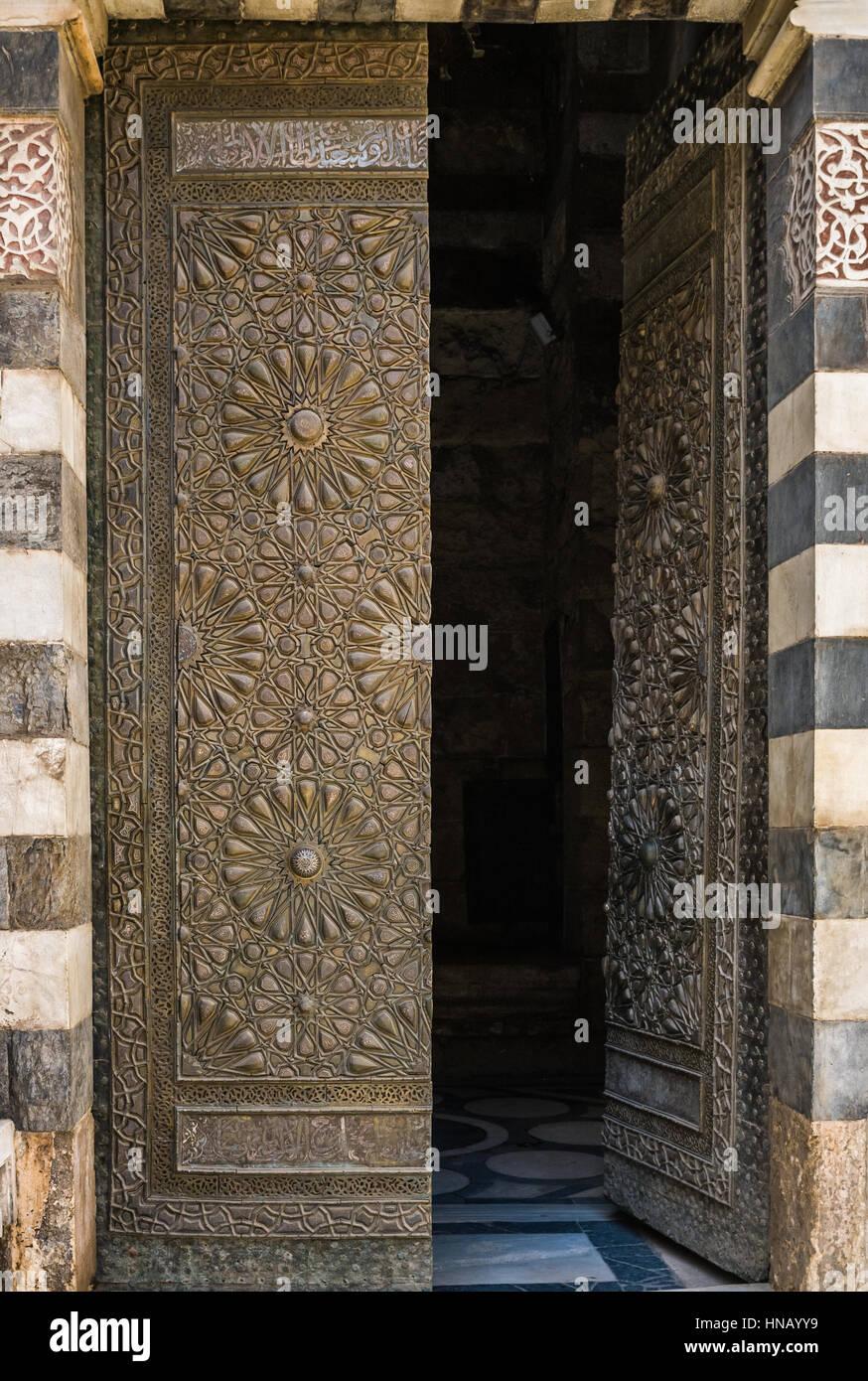 Close-up di immagine sono le antiche porte Immagini Stock