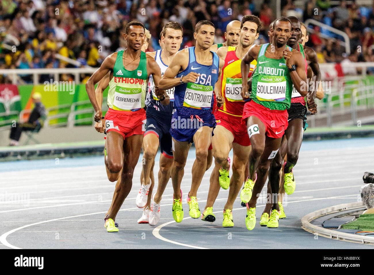 Rio de Janeiro, Brasile. Il 18 agosto 2016. Atletica, Matthew Centrowitz (USA) concorrenti negli uomini del 1500m Immagini Stock