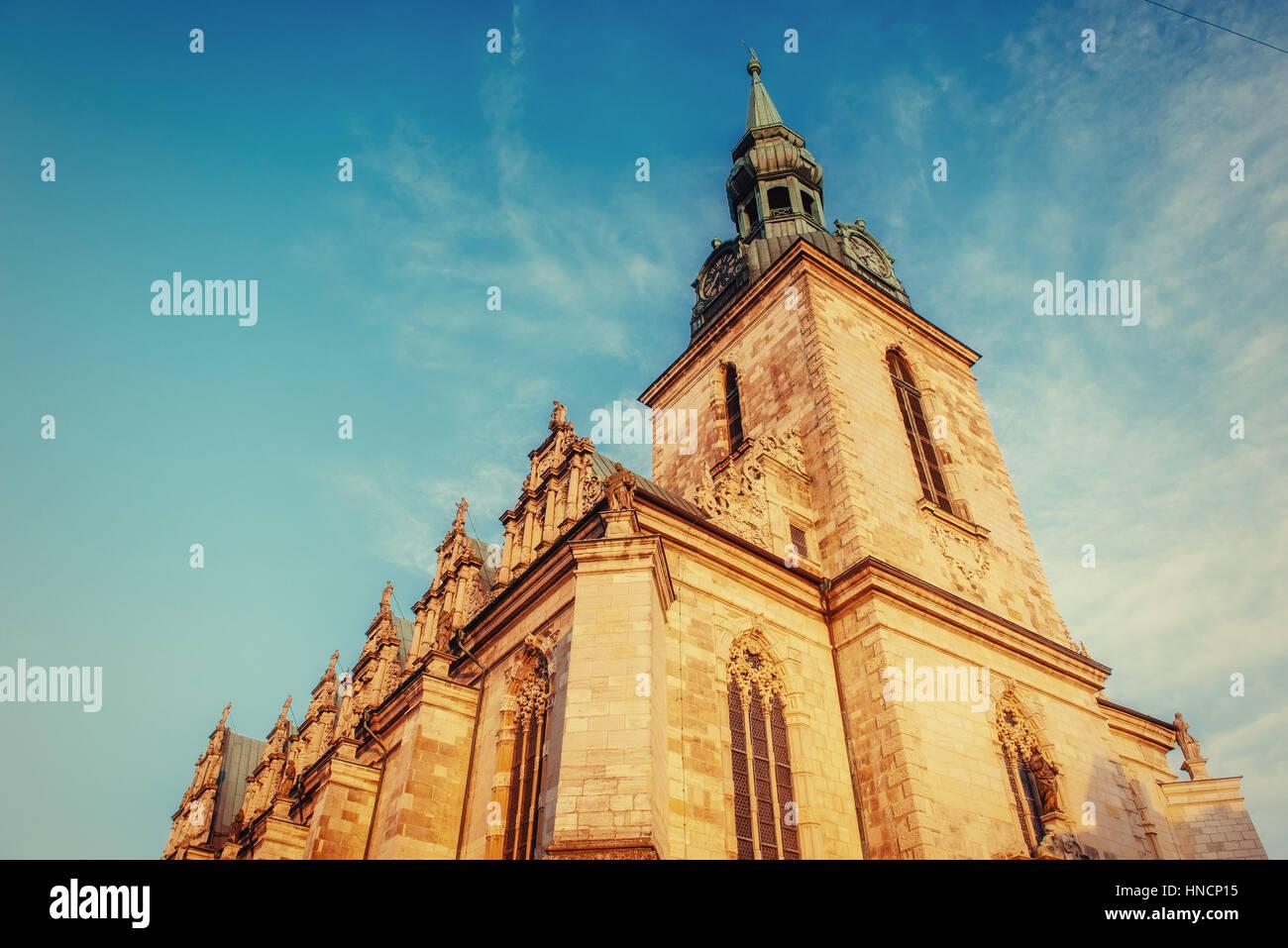 Chiesa della Santa Trinità. Germania. La piccola Venezia. Europa Immagini Stock