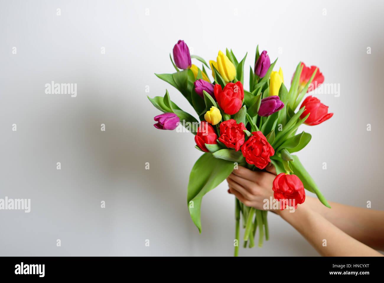 Bellissimo Luminoso Bouquet Di Fiori Miglior Regalo Per Donna Su 8