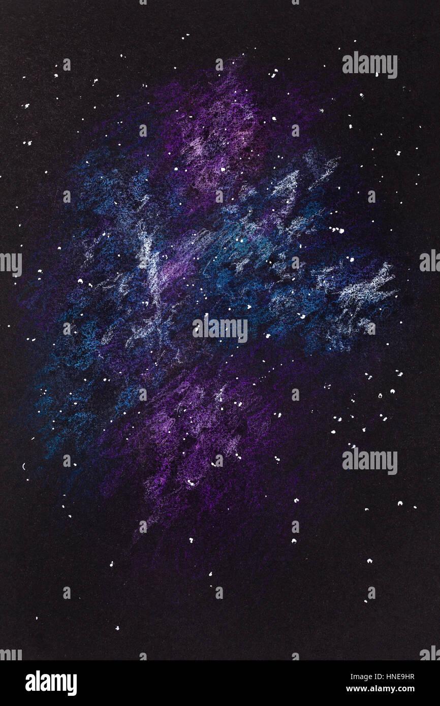 Dipinto A Mano Schizzo Di Disegno Astratto Cielo Notturno E Universo