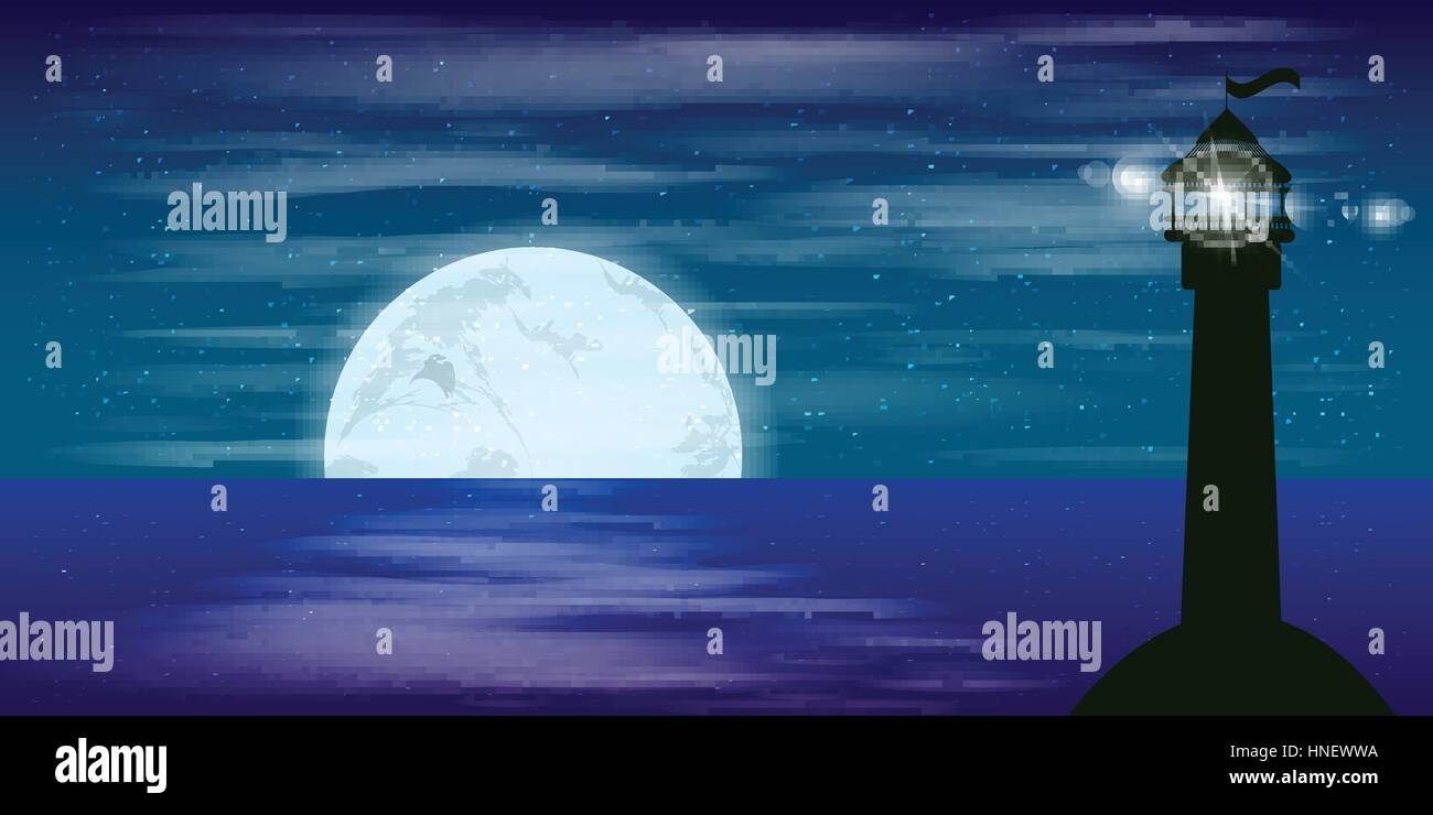 Lo Sfondo Del Desktop Paesaggio Cielo Notturno Luna Segnale Di
