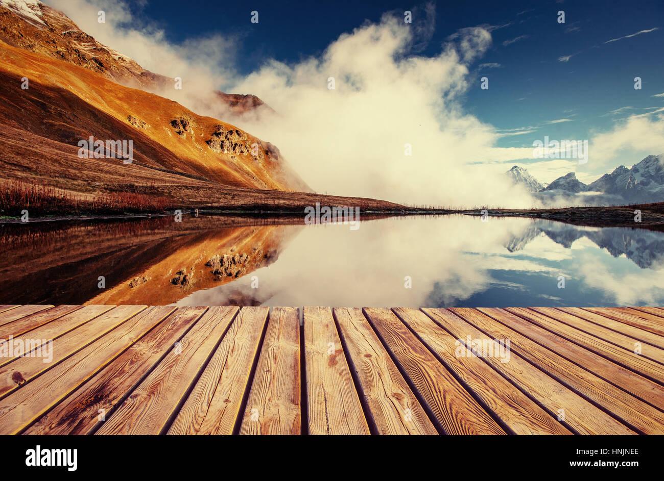 Il pittoresco paesaggio di montagna. Svaneti superiore, Georg Immagini Stock