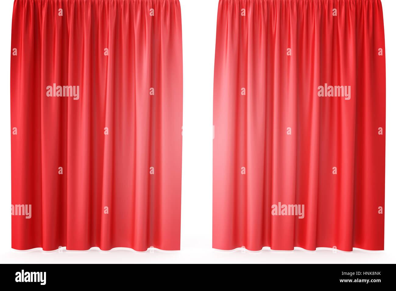 Tende In Velluto Di Seta lusso rosso scarlatto seta tende di velluto realistiche. il