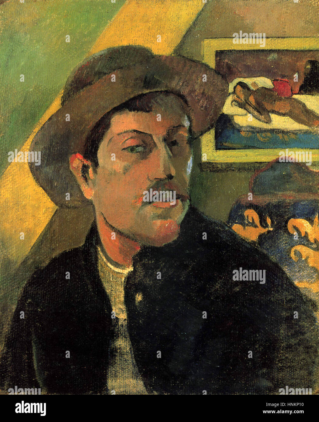 Paul Gauguin Self-portrait, 1893, Immagini Stock