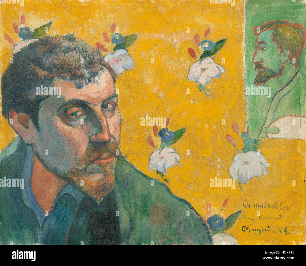 Paul Gauguin Self-portrait, 1888 Immagini Stock