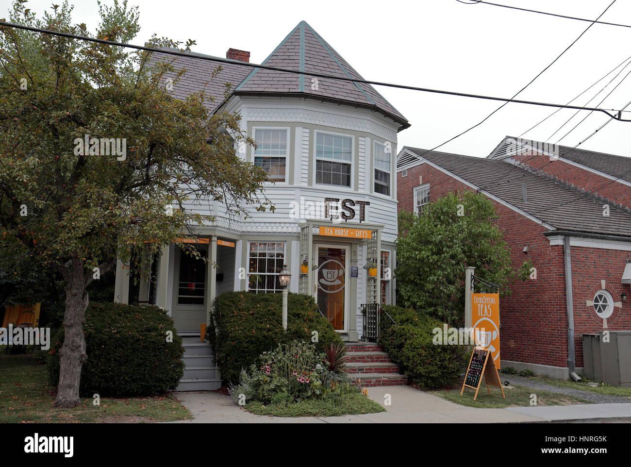 L'Est tea house e negozio di articoli da regalo in Great Barrington, Berkshire County, Massachusetts, Stati Immagini Stock