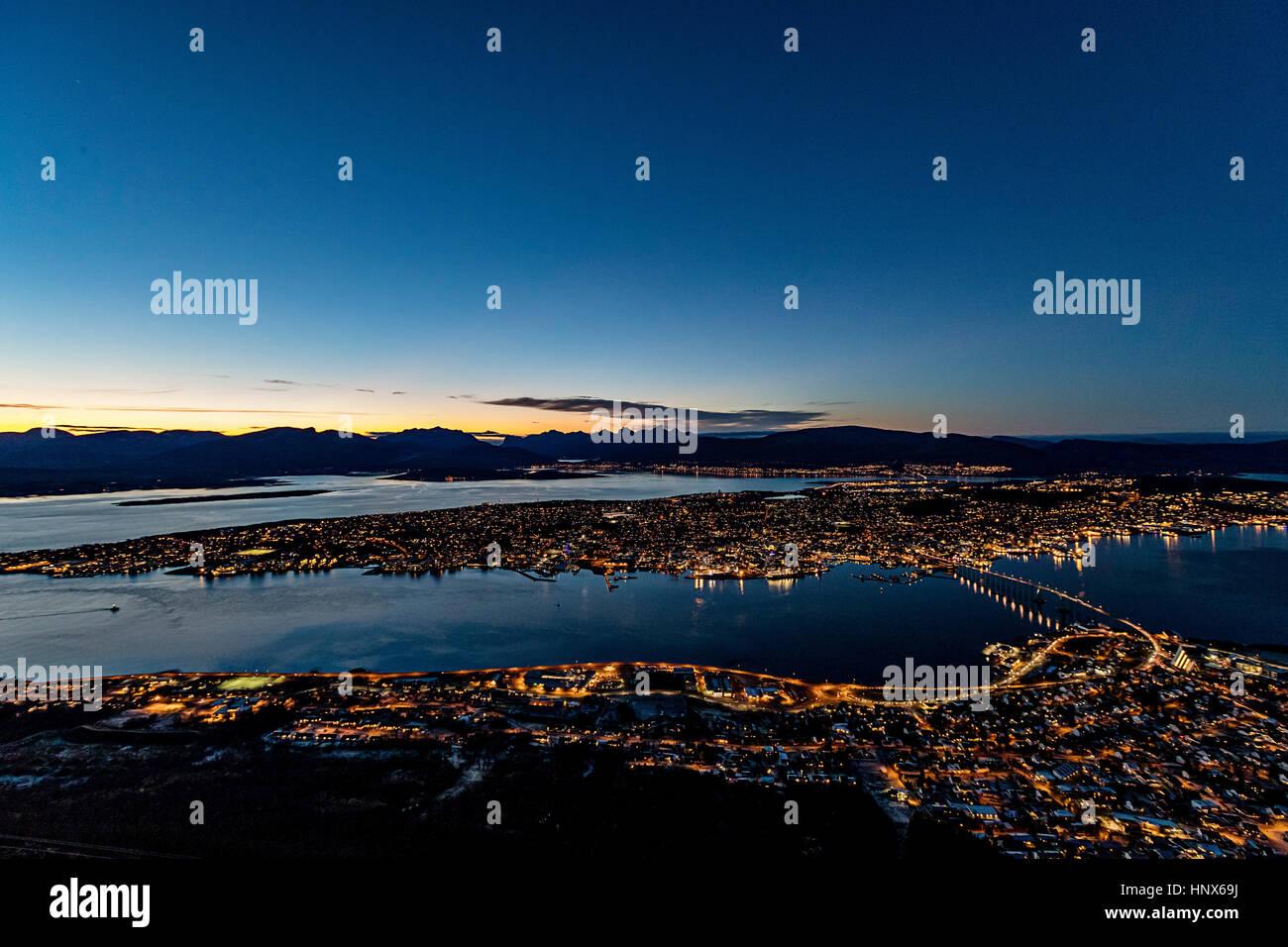 Tromso in autunno, Arctic Norvegia Immagini Stock