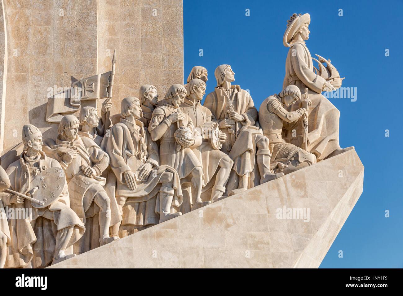 Il Monumento delle Scoperte, Padrao dos Descobrimentos, Belem, Lisbona, Portogallo Immagini Stock