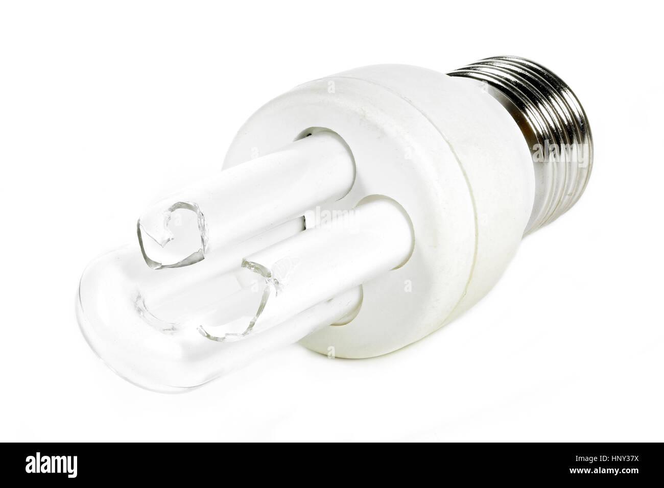 Lampada Tubolare Fluorescente : Rotto tubolare tipo di lampada fluorescente compatta da isolati su