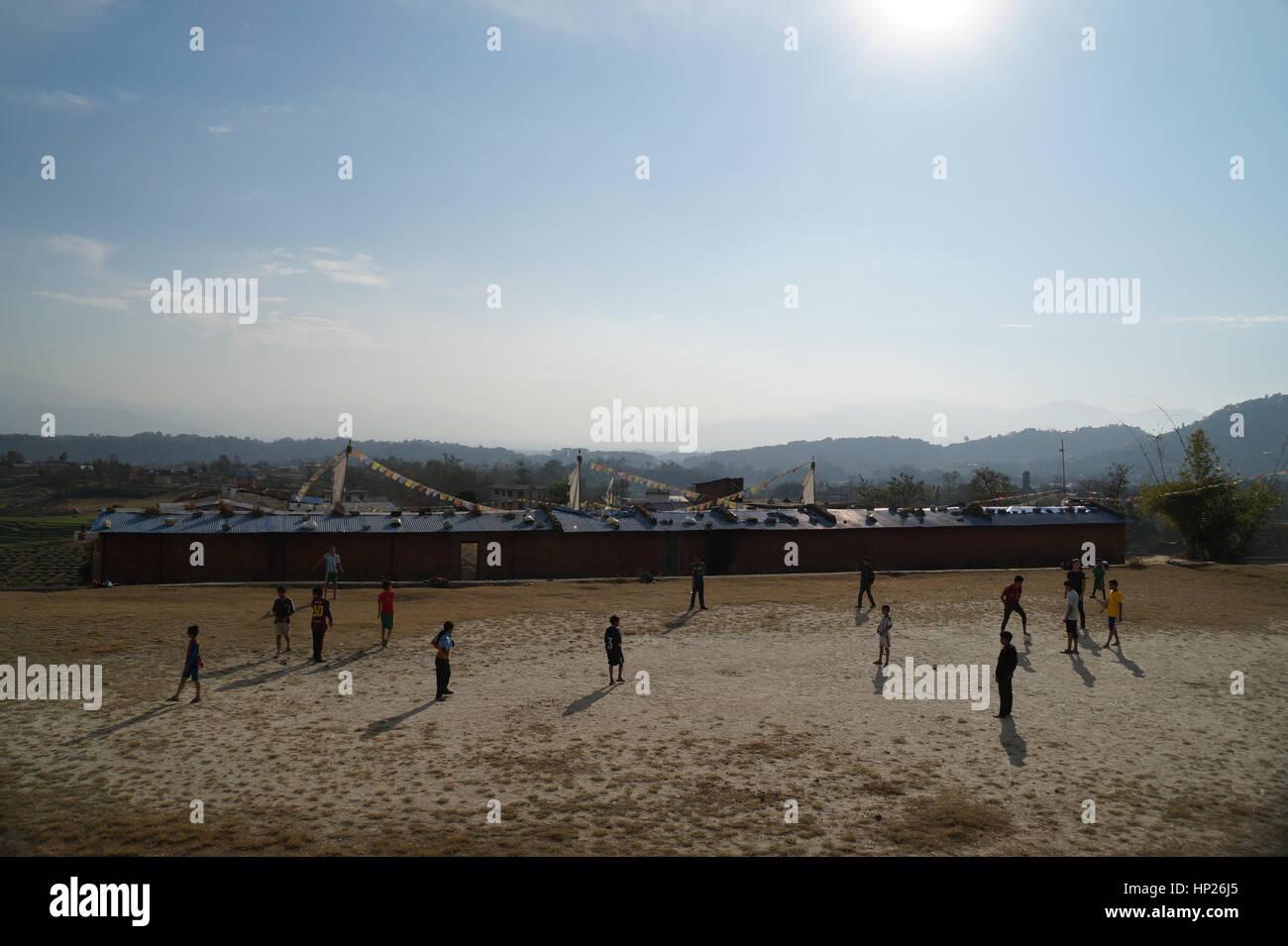 Il calcio nel paese del terzo mondo Immagini Stock