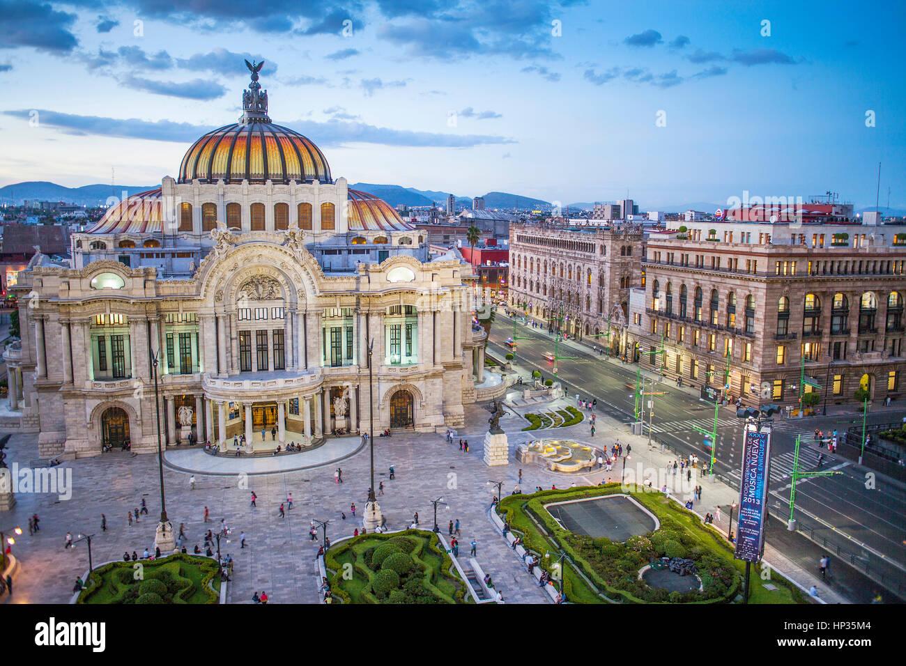 Palacio de Bellas Artes di Città del Messico, Messico Immagini Stock