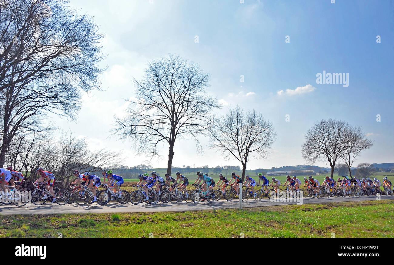 CYCLISME GRAND PRIX AUTOPOLIS DIPPACH. Dimanche 25 Mars 2012. Foto/BOUVY NICOLAS Immagini Stock