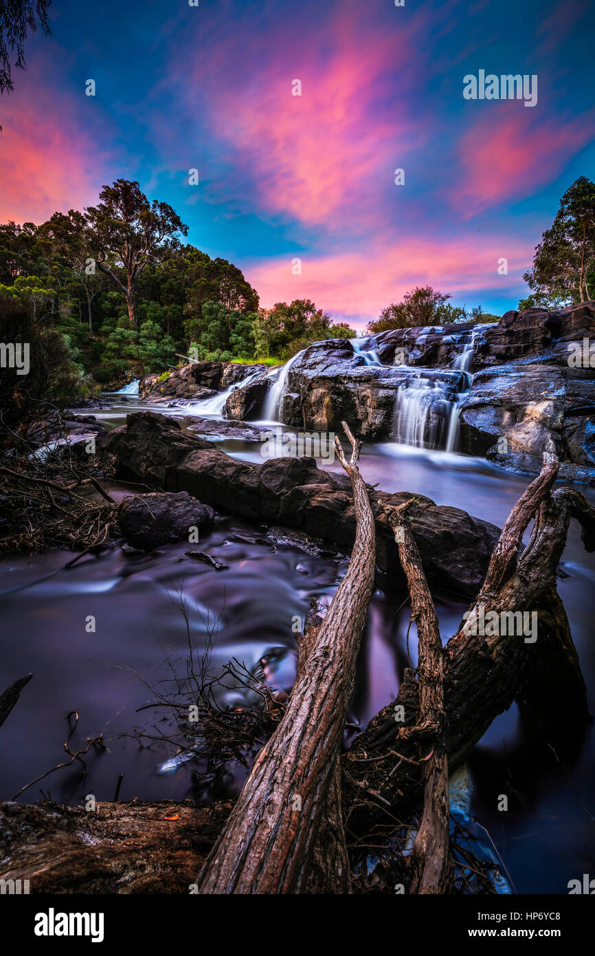 Kevill Rd Falls, Margaret River, Australia occidentale Immagini Stock