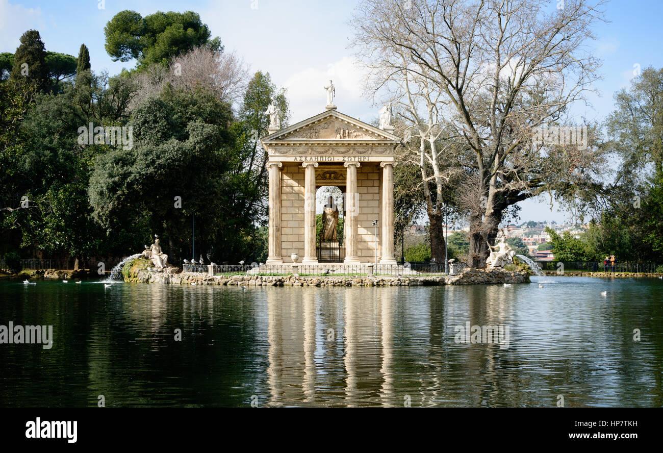 Piccolo Lago All Interno Di Villa Borghese Roma Italia