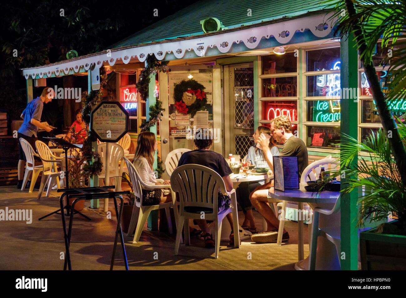 Key Largo superiore della Florida Florida Keys Sig.ra per Mac del ristorante con cucina sala da pranzo a base di Immagini Stock