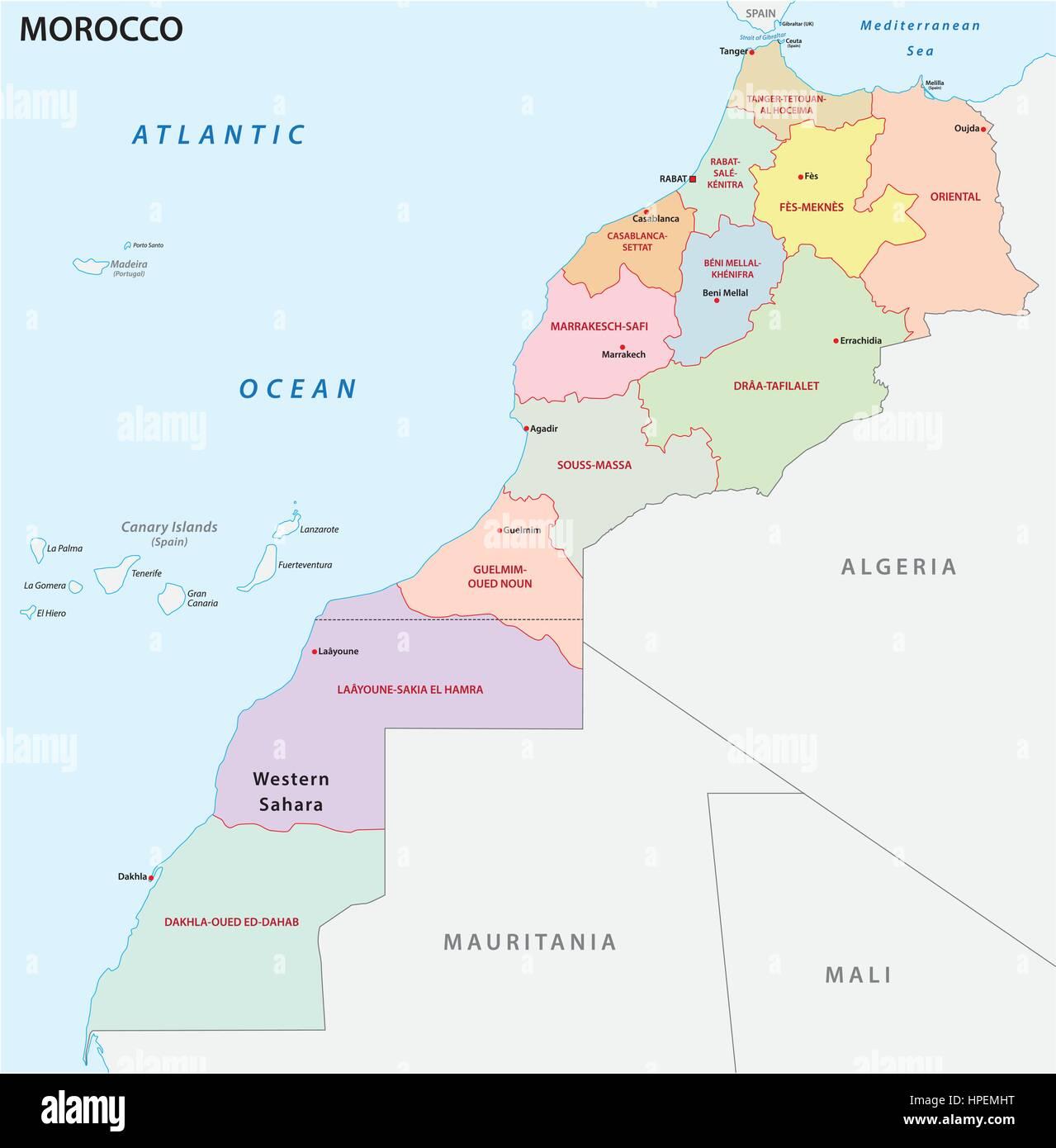 Cartina Geografica Fisica Del Marocco.Casablanca Morocco Map Immagini E Fotos Stock Alamy