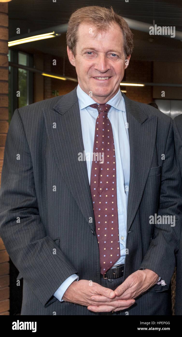 Giornalista e consulente politico Alastair Campbell. Downing Street premere il segretario per il primo ministro Immagini Stock