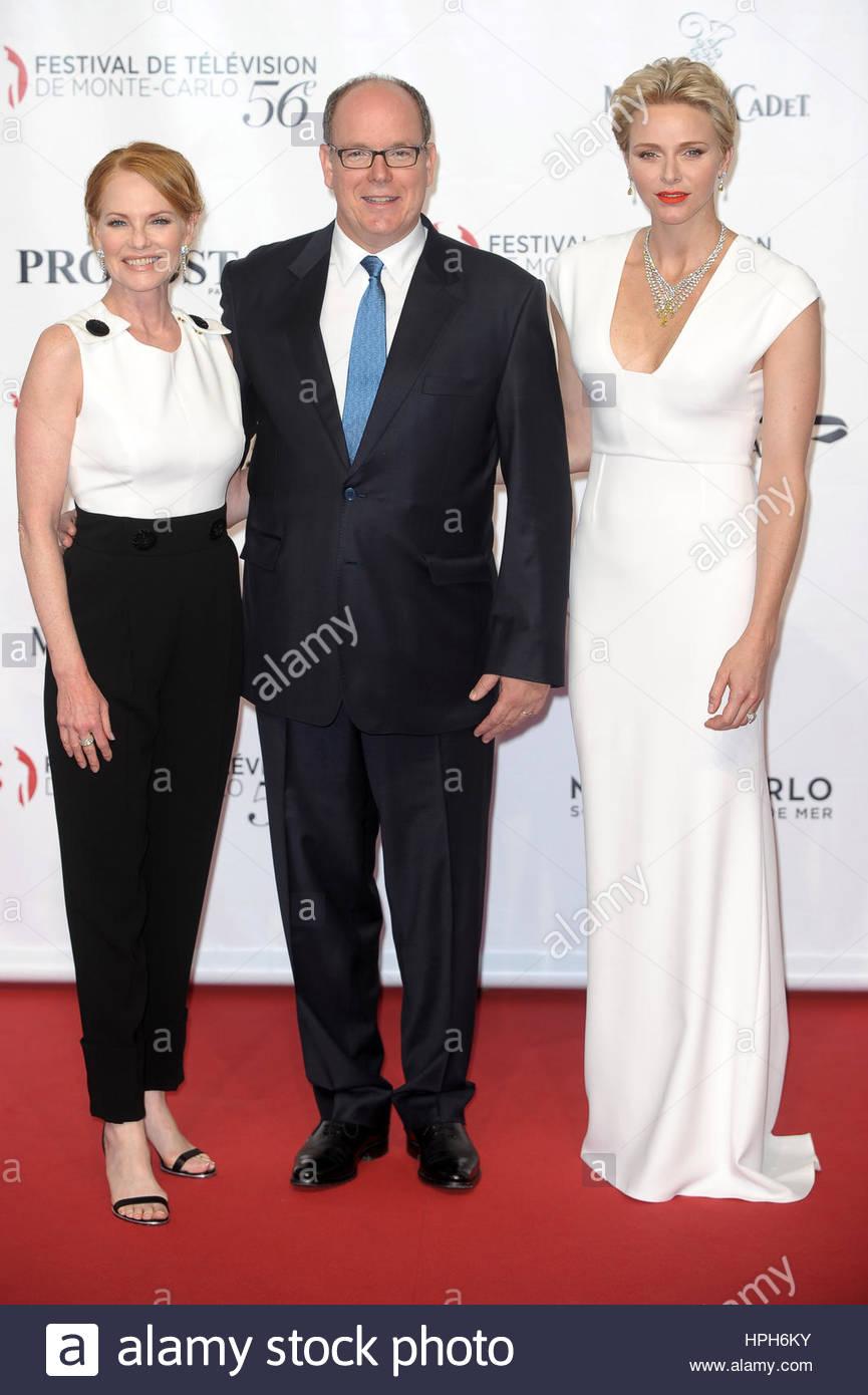 Alberto II di Monaco,Charlene Wittstock,Marg Hengelberger Immagini Stock