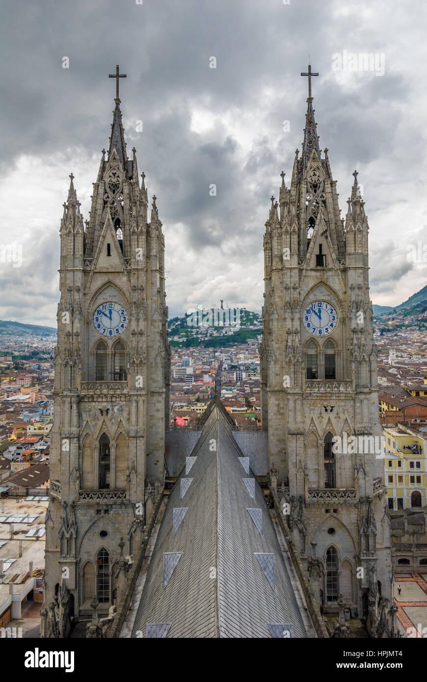 Basilica del Voto Nacional, Quito Ecuador Immagini Stock