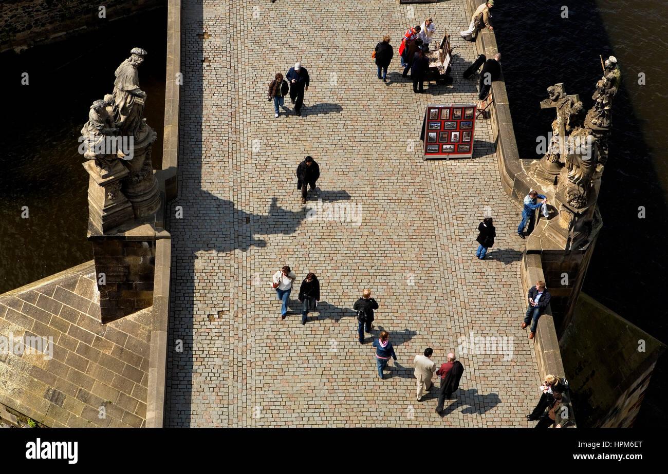 Charles Bridge.Praga. Repubblica ceca Foto Stock