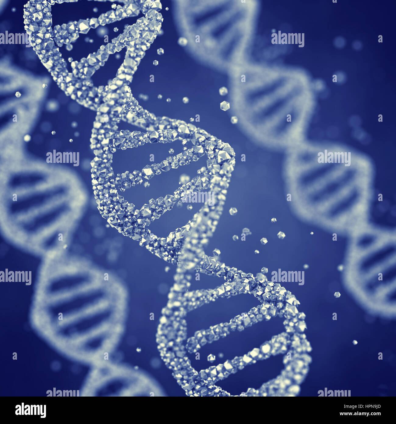 Elica di Dna , Gene mutazione genetica , Immagini Stock