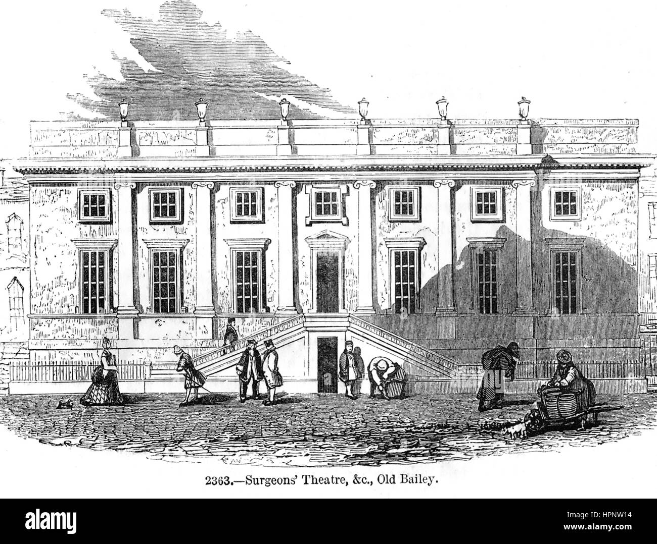 I CHIRURGHI Theatre in Old Bailey, Londra, circa 1755 Foto Stock