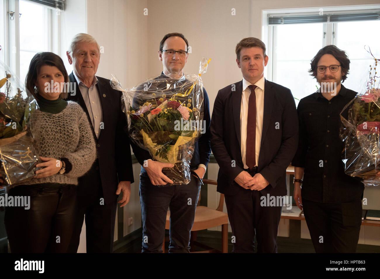 Torshavn, Isole Faerøer. Il 24 febbraio 2017. Delle Isole Faeroeer ristorante gourmet ristorante KOKS aggiudicata Immagini Stock