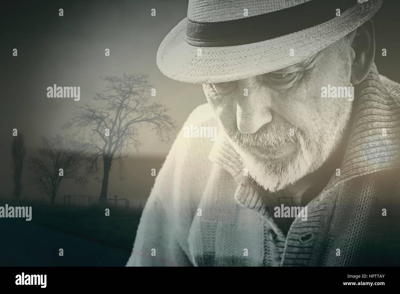 Uomo maggiore anziano Immagini Stock
