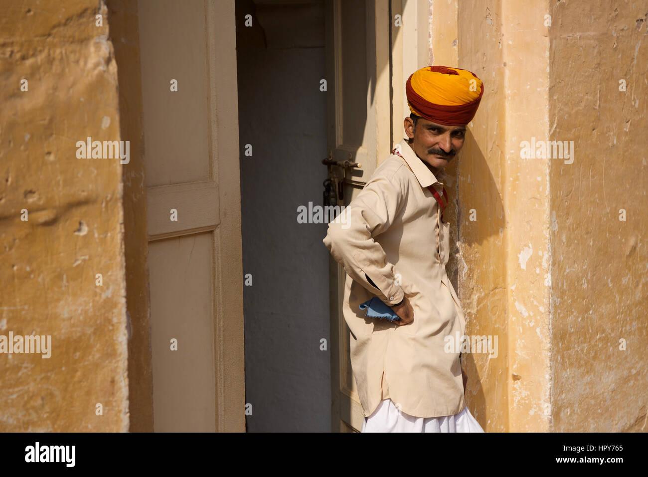 Rajput uomo, Jodhpur Immagini Stock
